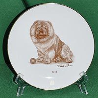 plate with chow-chow picture